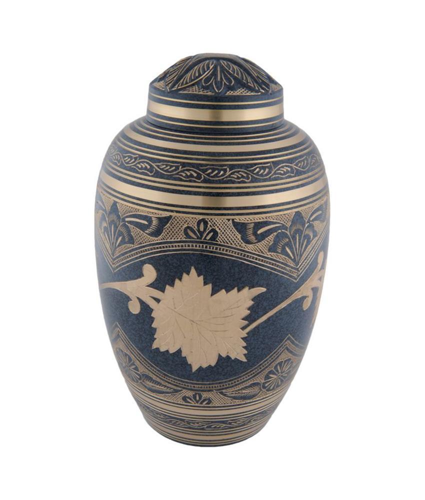 Marble platina urn groot - messing