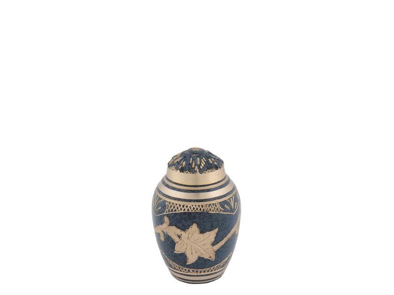 Marble platina urn klein - messing