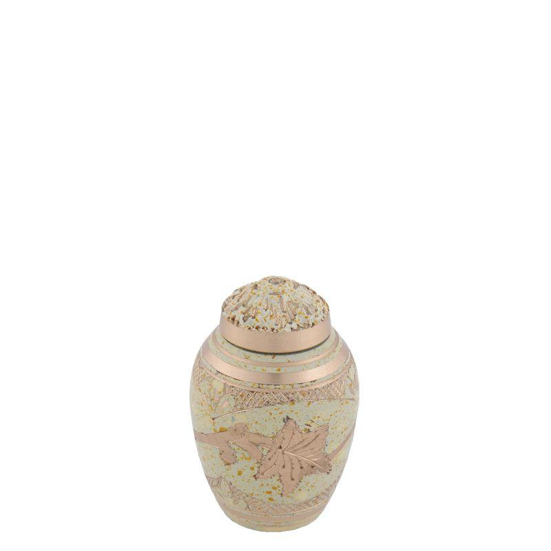 Creme brass urn klein - messing