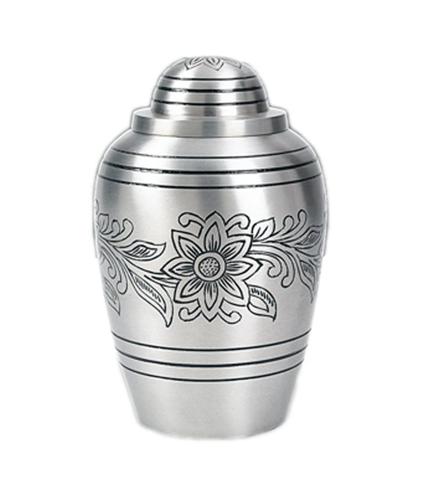 Pewter bouquet urn groot - messing