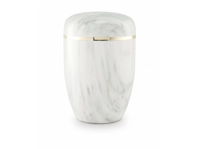 Bokaal urn wit marmerlook - staal