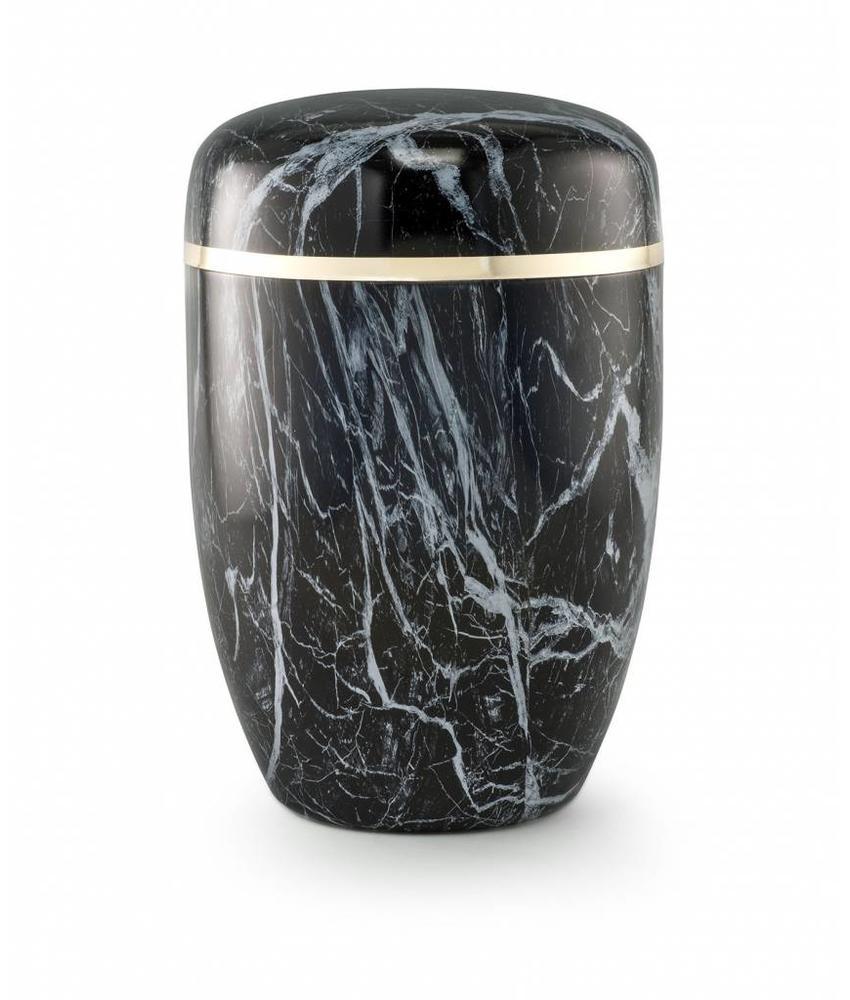Bokaal urn blauw marmerlook - staal