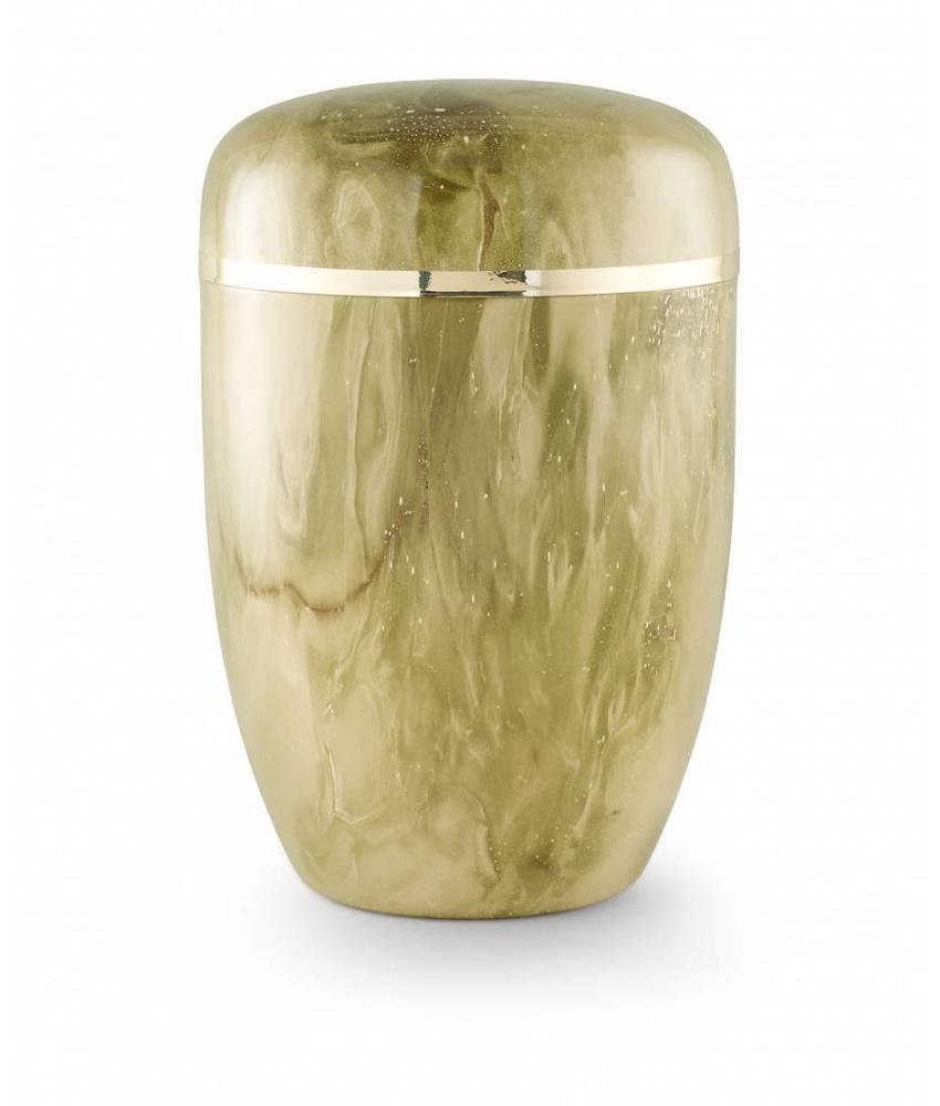 Bokaal urn groen marmerlook - staal