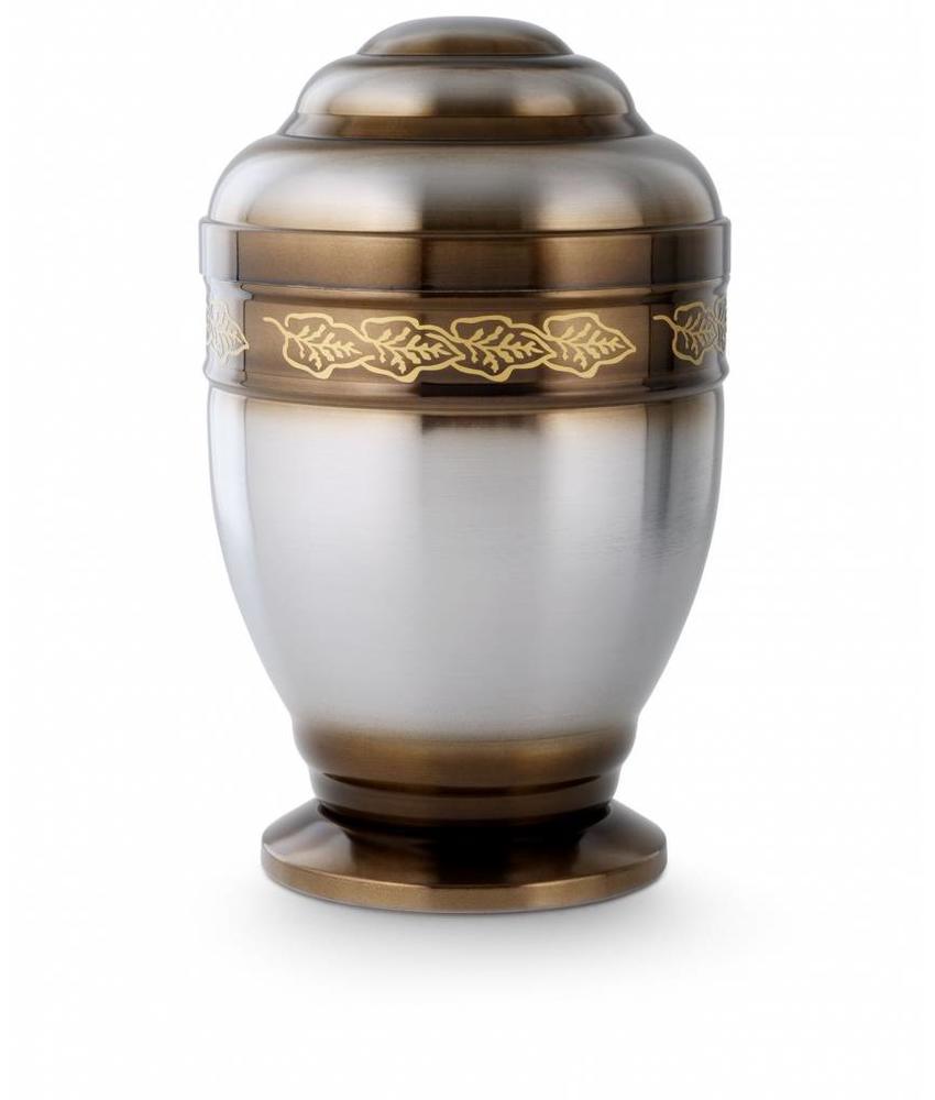 Kelk urn met laurierkrans -staal