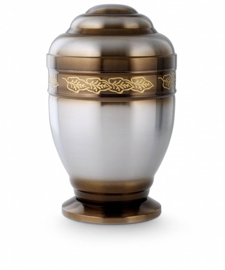 Kelk urn met laurierkrans - staal
