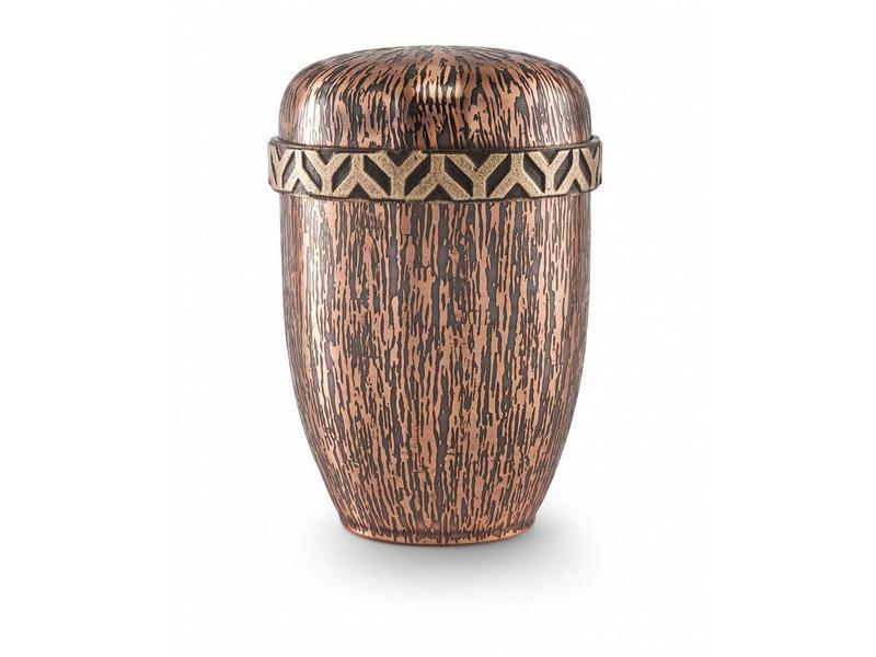 Koper urn met runenschrift - koper