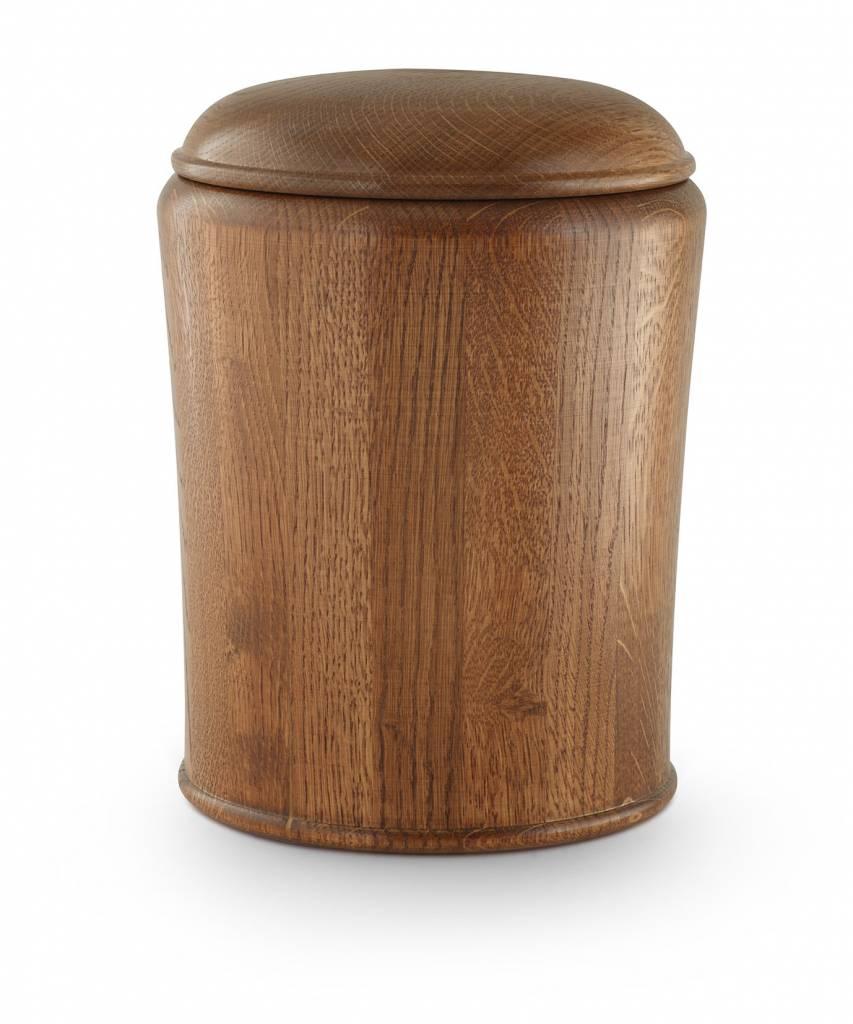 Eiken urn rustiek - hout