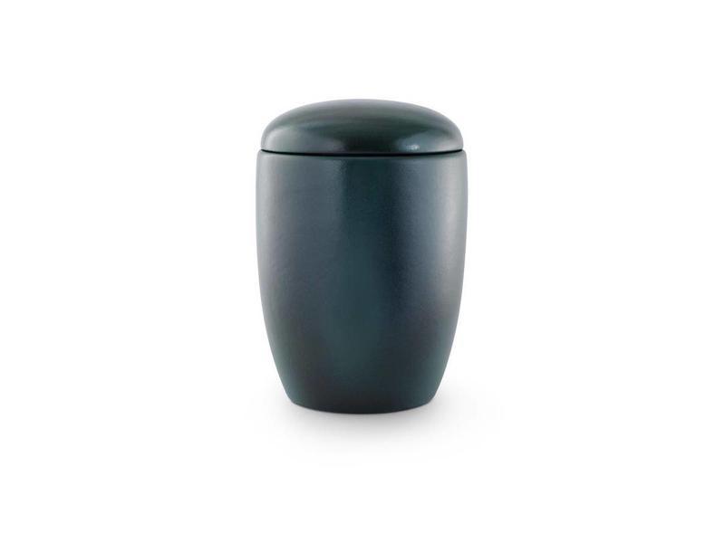 Keramiek urn blauw groen - keramiek