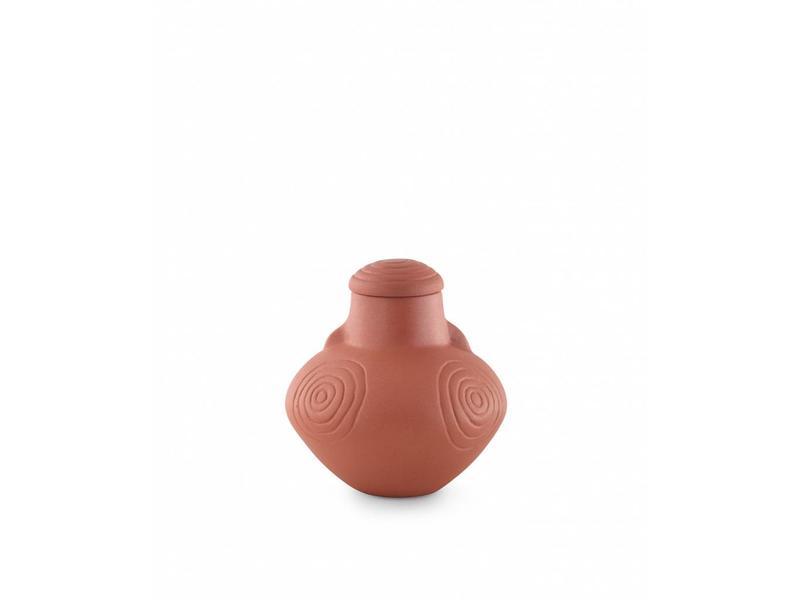 Traditionele urn rood - Keramiek