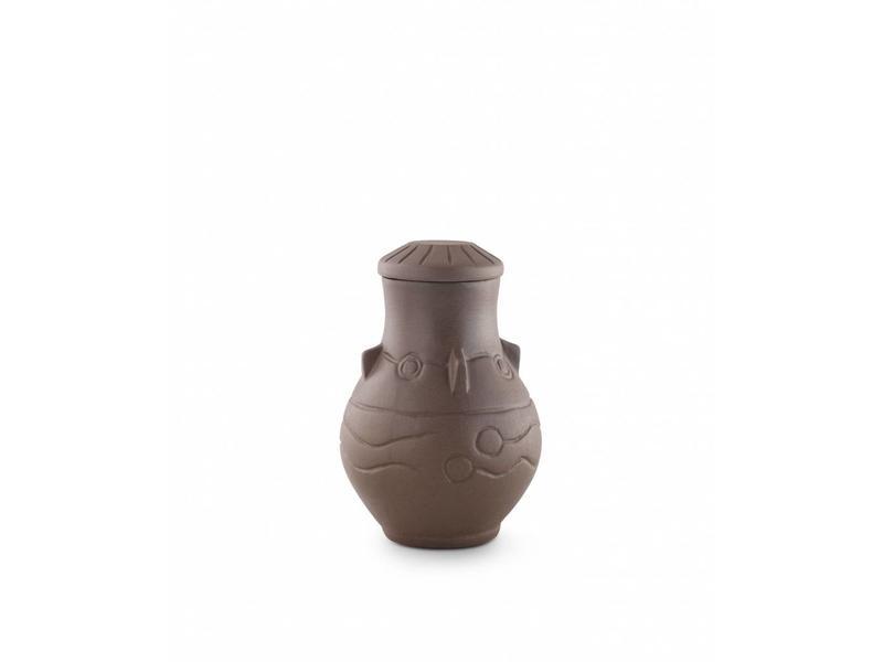 Traditionele urn donker - keramiek