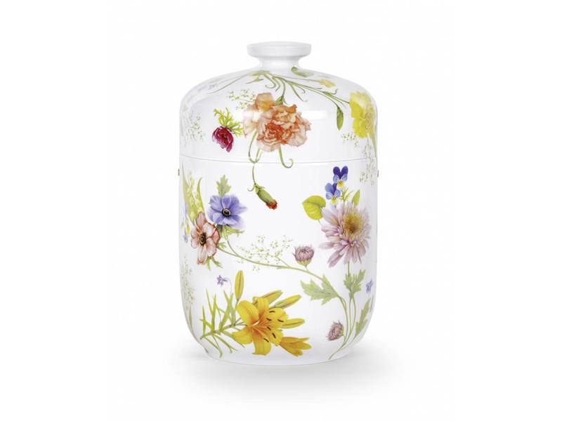 Porselein urn bloemen - porselein