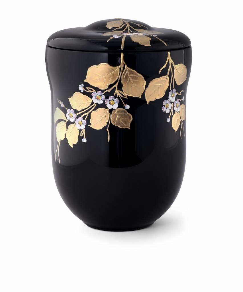 Murano decoratief zwart en goud - glas