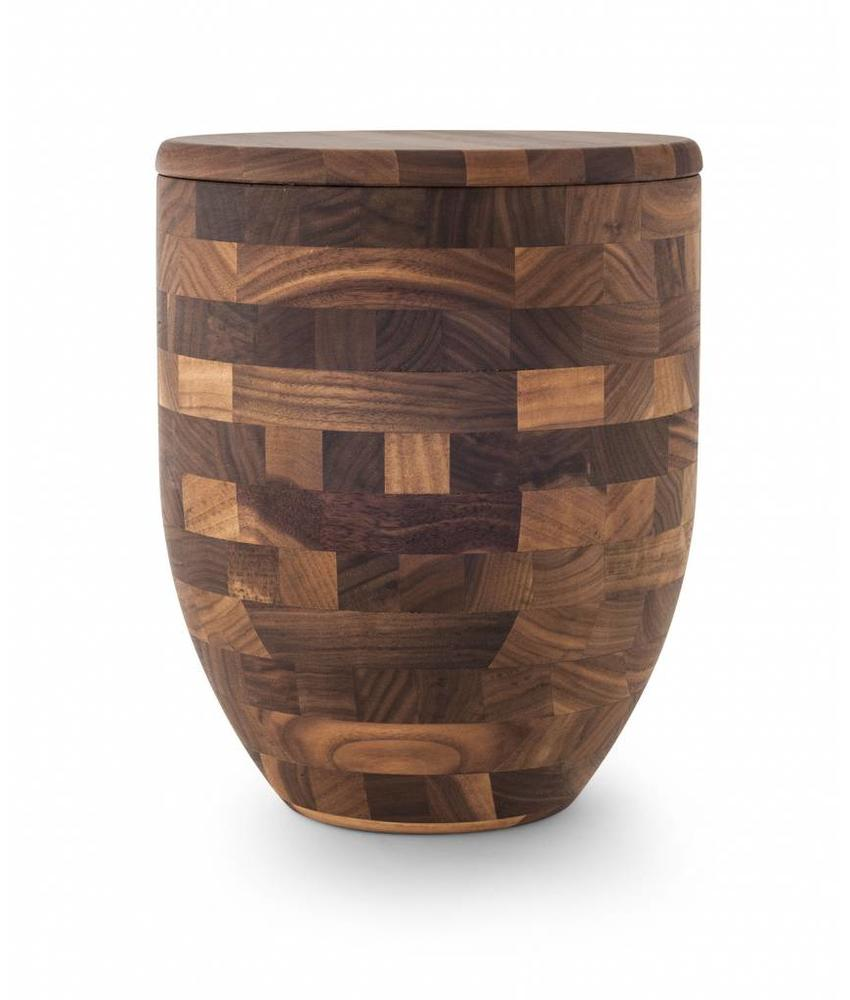 Walnotenhout urn - hout