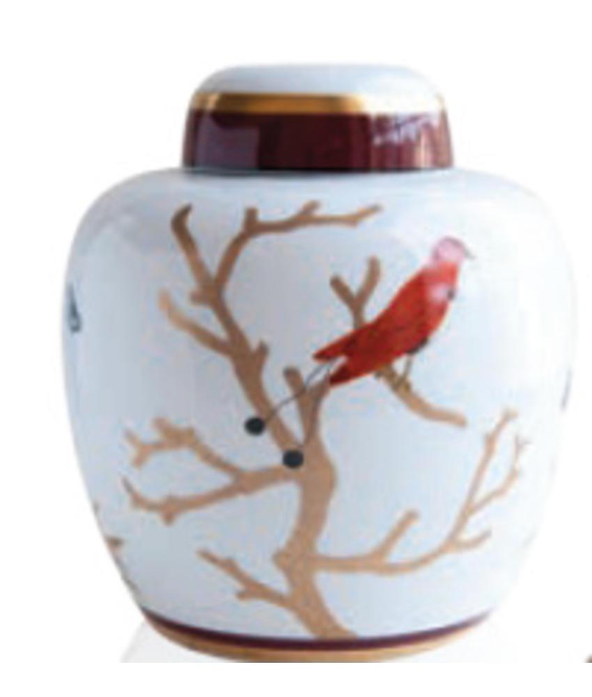 Montréal vogel urn klein - Porselein