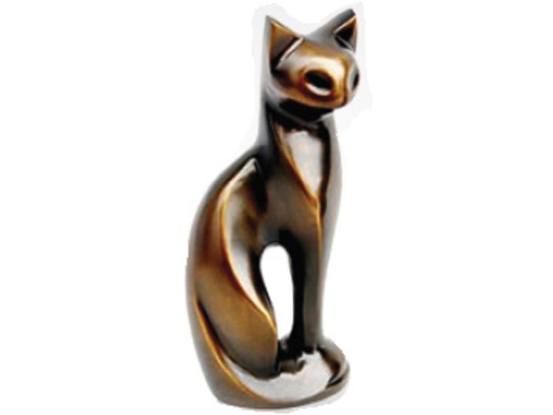 Katten urn stijlvolle bruine kater - messing