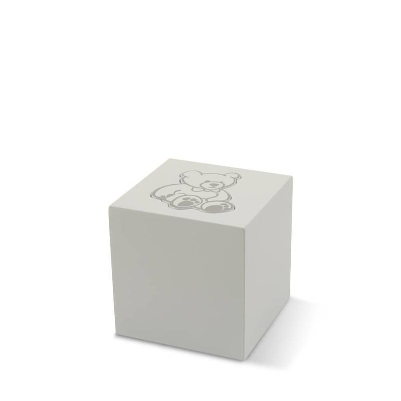 Kinder urn witte beer - aluminium