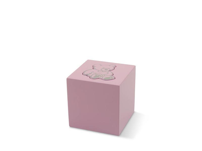 Kinder urn roze beer - aluminium
