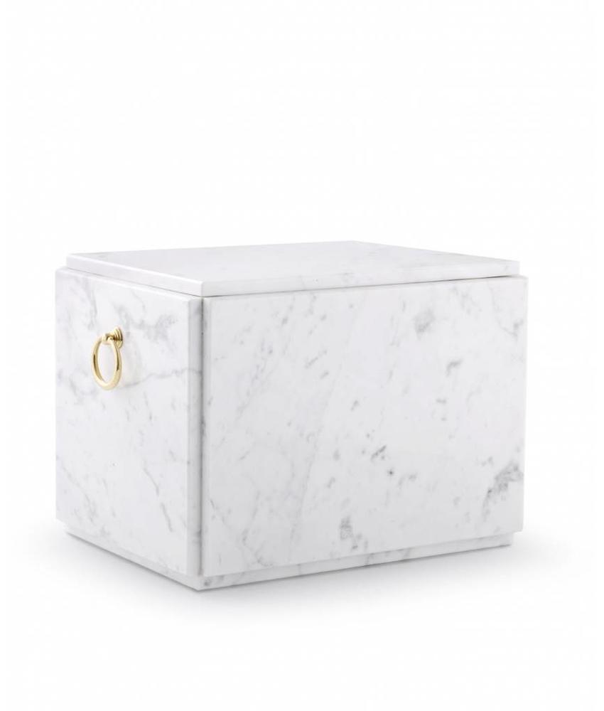 Sarcofaag urn wit liggend - marmer
