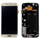 Samsung G925F Galaxy S6 Edge LCD Display Module, Gold, GH97-17162C;GH97-17262C