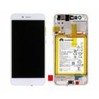 Huawei P10 Lite (Warsaw-L21) LCD Display Module, Wit, 02351FSC;02351FSB, Incl. Battery  HB366481ECW 3000mAh