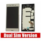 Sony Xperia XZ Premium Dual G8142 LCD Display Module + Touch Screen Display + Frame, Silver, 1307-9887 [EOL]