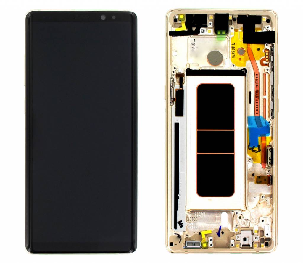 Samsung N950F Galaxy Note 8 LCD Display Module + Touch Screen Display + Frame, Gold, GH97-21065D