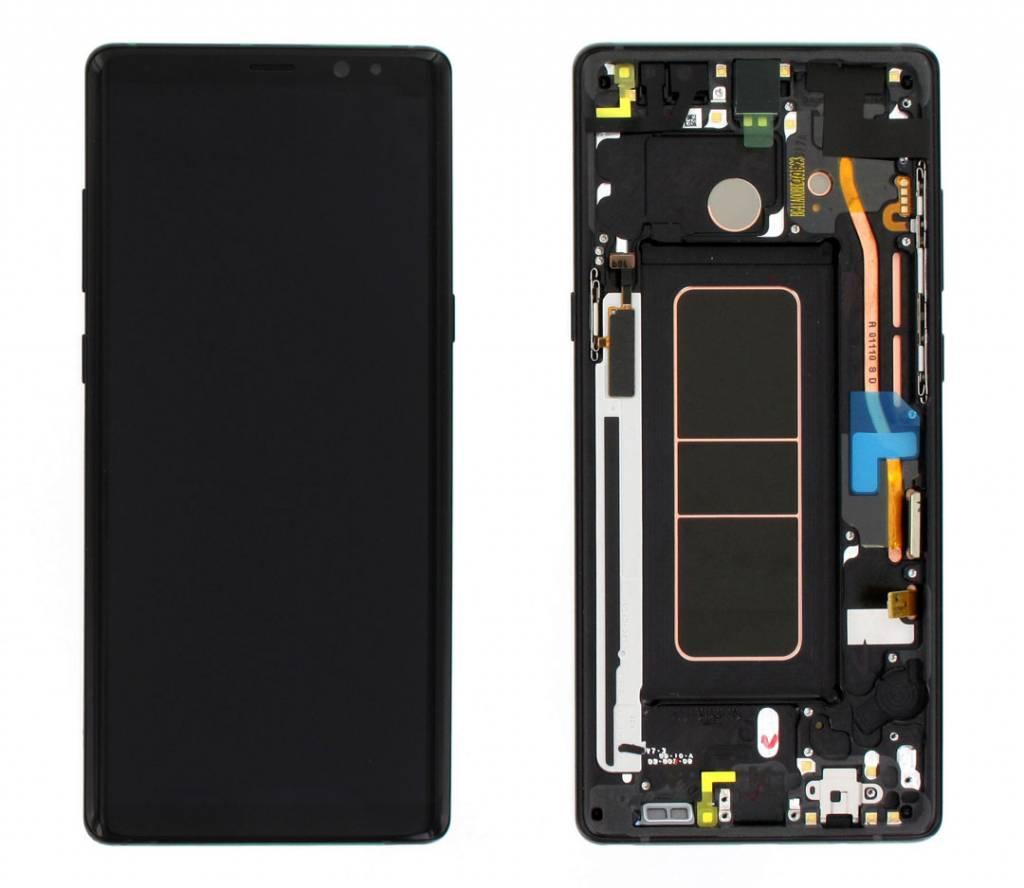 Samsung N950F Galaxy Note 8 LCD Display Module + Touch Screen Display + Frame, Black, GH97-21065A