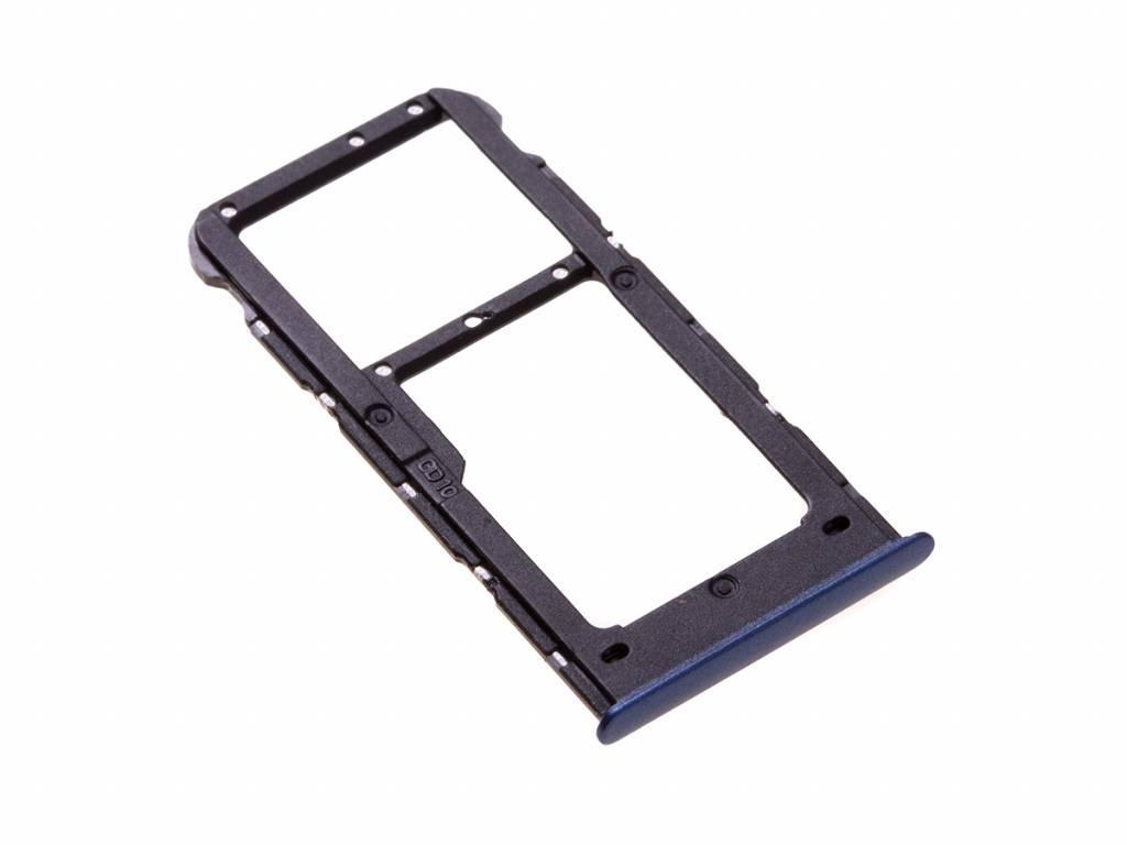 Huawei P Smart (FIG-L31) Sim + Memory Card Tray Holder, Blue