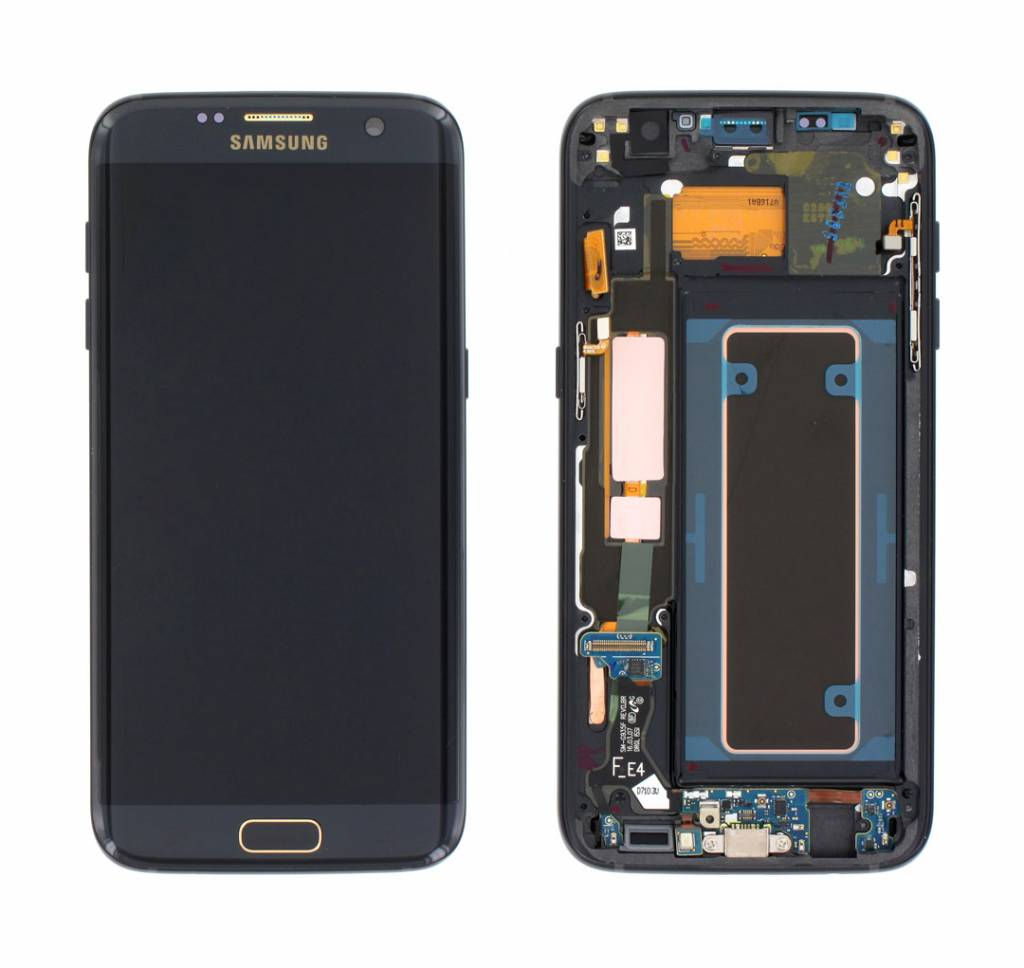 Samsung G935F Galaxy S7 Edge LCD Display Modul, Jet Black/ Schwarz, GH97-18533H;GH97-18767F