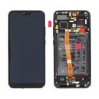 Huawei Honor 10 (COL-L29) LCD Display Module, Midnight Black/Zwart, Incl. Battery HB396285ECW, 02351XBM