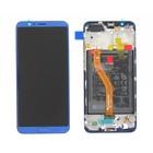 Huawei Honor View 10 (BKL-L09) LCD Display Modul, Aurora Blue/Blau, Incl. Battery HB386589ECW, 02351SXB