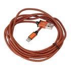Platinet Usb Lightning Fabric Braided Cable 2M Orange