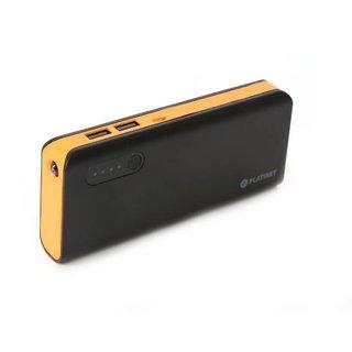 Platinet Power Bank 8000Mah + Microusb Kabel + Taschenlampe Schwarz/Orange [42415]