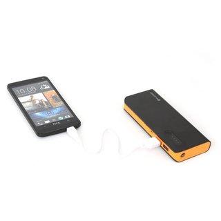 Platinet Power Bank 8000Mah + Micro Usb Kabel + Taschenlampe Zwart/Oranje [42415]
