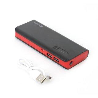 Platinet Power Bank 8000Mah + Microusb Kabel + Taschenlampe Schwarz/Rot [42418]