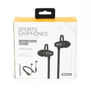 Platinet In-Ear Bluetooth Sport Oordoppen + Microfoon Pm1065 Zwart [43748]