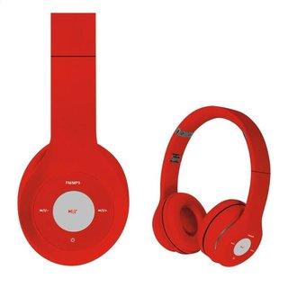Freestyle Koptelefoon Bluetooth Fh0915 Rood/Rood [43049]
