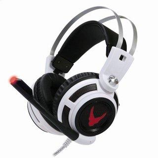 Omega Varr Koptelefoon Hi-Fi Stereo Microfoon Ovh4055 LED vibratie Wit [43690]
