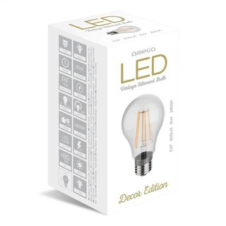Omega LED gloeidraad E27 2800K 6W
