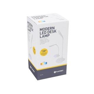 Platinet Flexibele Bureaulamp - Wit 3,5W
