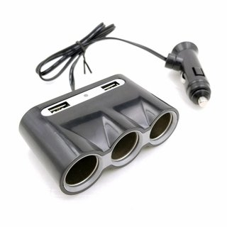 Omega Autolader / Sigarencontactkabel Met 2 USB Poort 2.4A [44688]