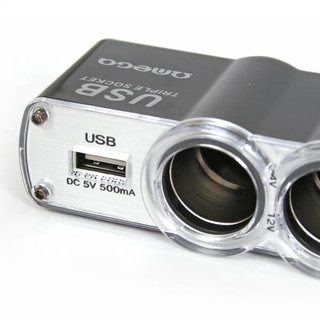 Omega Triple Cigar Socket Cable + USB Porttc-911