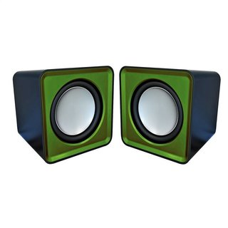 Omega Speakers 2.0 Og-01 Surveyor 6W Green USB [41921]