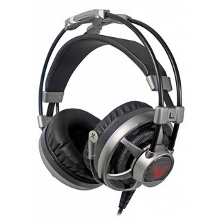 Varr Gaming Headset HiFi-stereo Met Microfoon, LED verlichting & vibratie Technologie Grijs [44409]