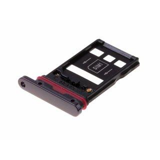 Huawei Mate 20 Pro Dual Sim (LYA-L29C) Sim + Memory Card Tray Holder, Black, SIM + NM, 51661KCR