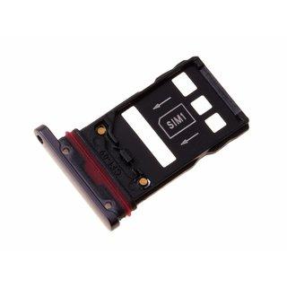 Huawei Mate 20 Pro Dual Sim (LYA-L29C) Sim + Speicherkarten Halter, Schwarz, SIM + NM, 51661KCR