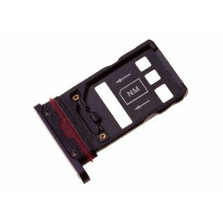 Huawei Mate 20 Pro Dual Sim (LYA-L29C) Sim + Speicherkarten Halter, Twilight, SIM + NM, 51661KLQ