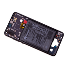 Huawei P20 Dual Sim (EML-L29) Front Cover Frame, Zwart, 02351VTL;02351WKJ