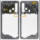 Samsung A920F/DS Galaxy A9 (2018) Middle Cover, Caviar Black/Zwart, GH96-12294A