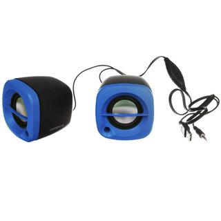 Kleine Omega Luidsprekers 2.0 6W Blauw USB [43041]